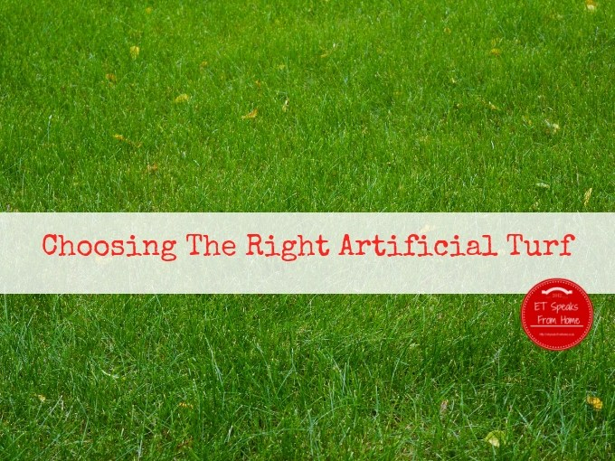 Choosing The Right Artificial Turf