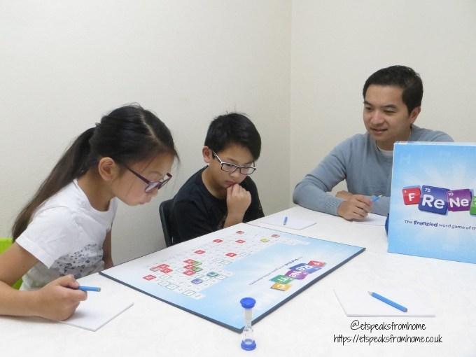 FReNeTiC word game board playing