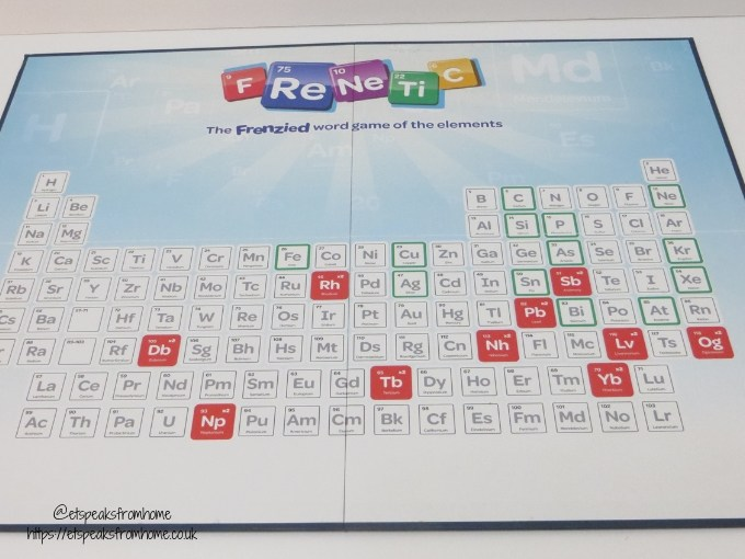 FReNeTiC word game board