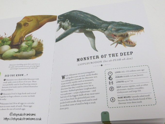 The Fearsome World of Dinosaurs contents