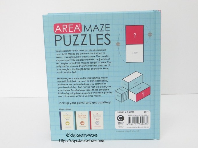 Area Maze Puzzles book