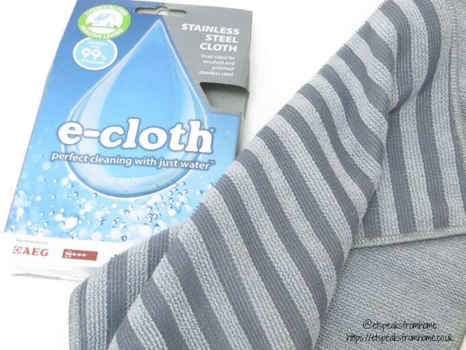 National Spring Cleaning Week with e-cloth stainless stell cloth
