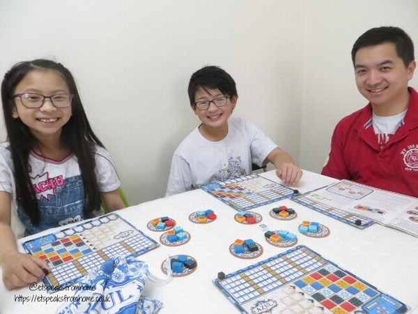 Azul Board Game playing