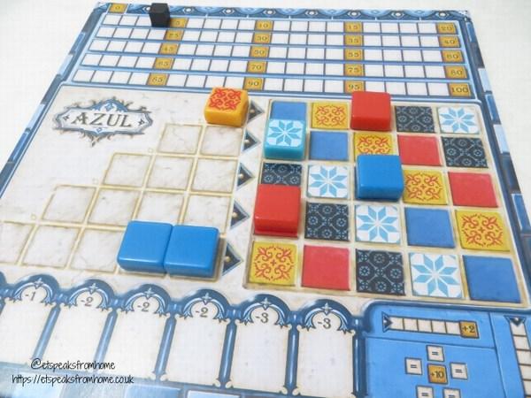 Azul player board
