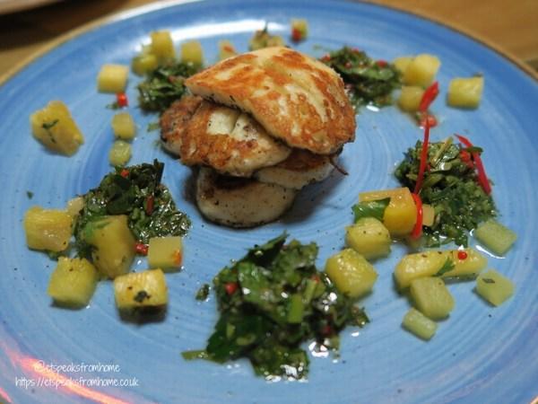 Bodega Bar & Cantina grilled halloumi