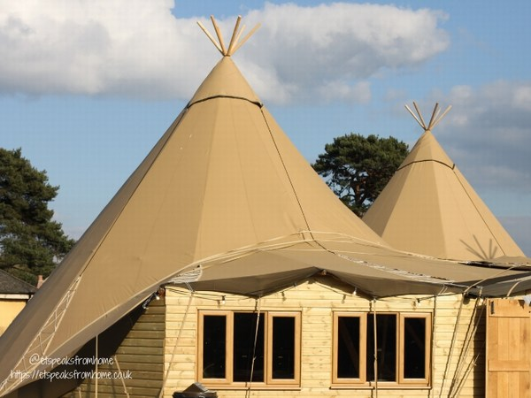 Alton Towers Resort Stargazing Pods tipi resturant