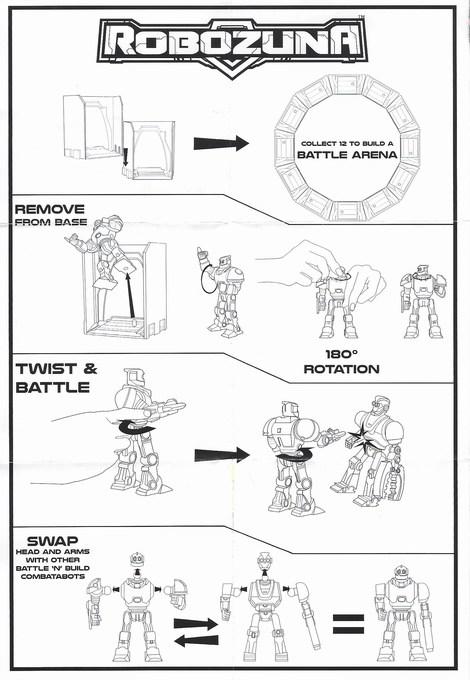 Bandai Robozuna Battle n Build Figure instruction