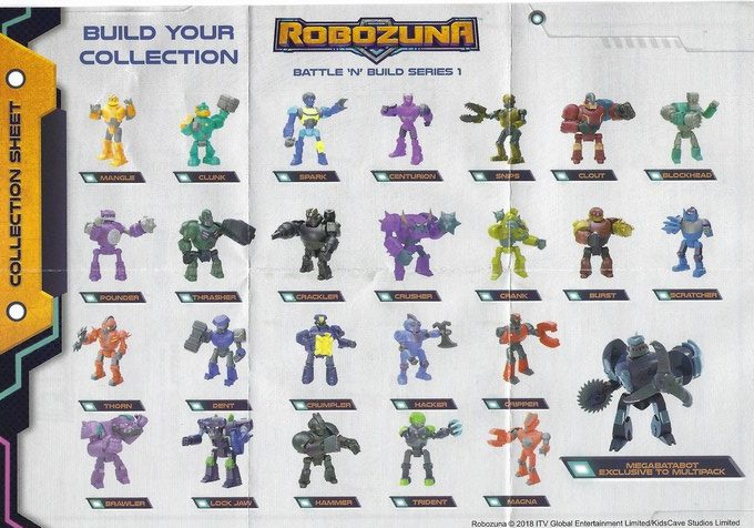Bandai Robozuna Battle n Build Figure single list