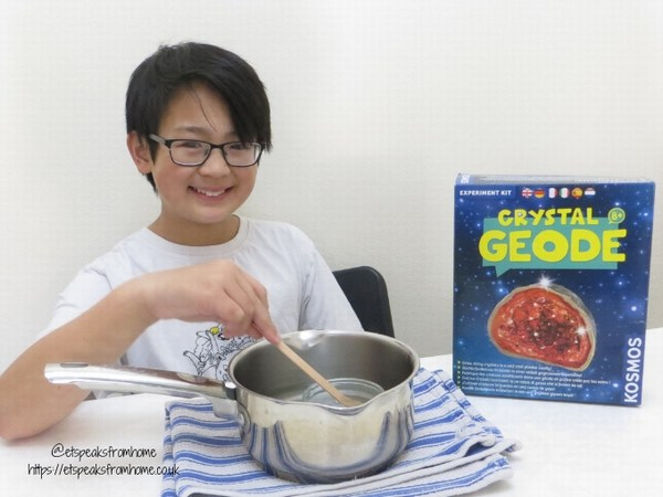 Thames & Kosmos Science geode experiment one