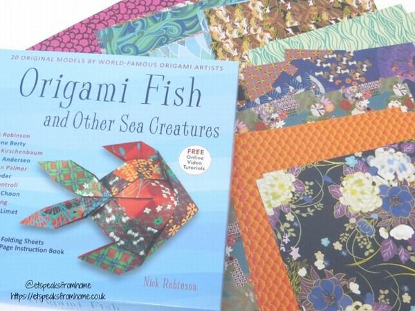 origami fish paper