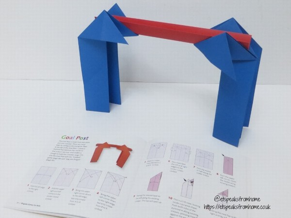 origami games for kids goal posts