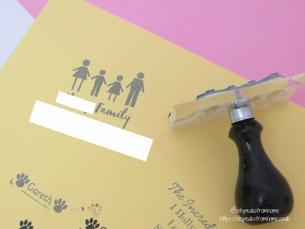 stamptastic personalised address medium