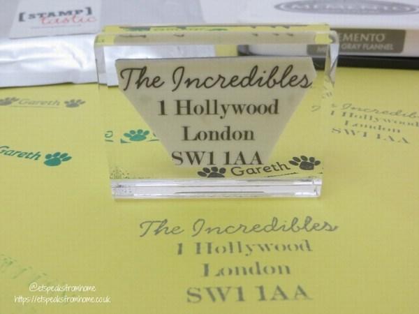 stamptastic personalised address stamp