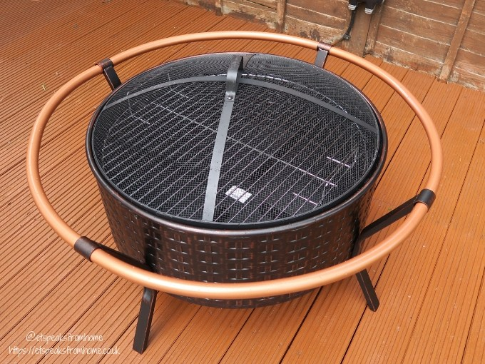 Getting Garden Ready with VonHaus Copper Rim Fire Pit grill