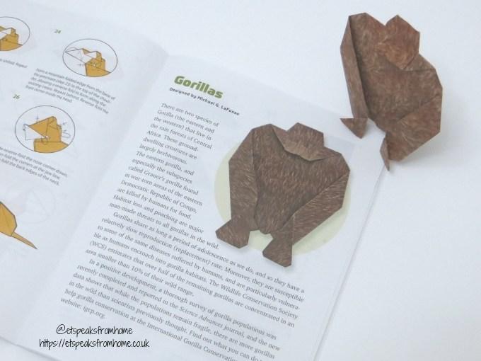 Origami Endangered Animals gorila