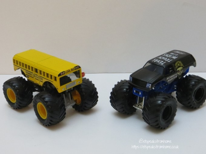 monster jam die cast Higher Education vs Bounty Hunter