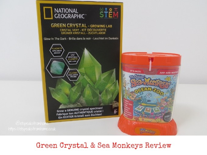 National Geographic growing crystal and sea monkey