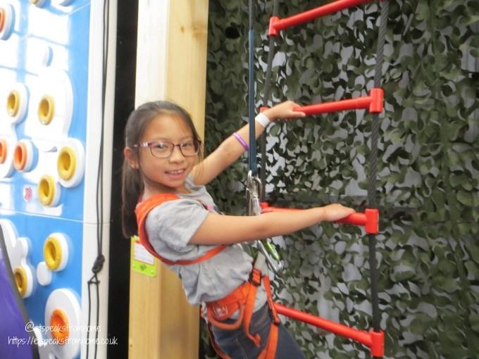 A Day at Wicksteed Park clip n climb ladder