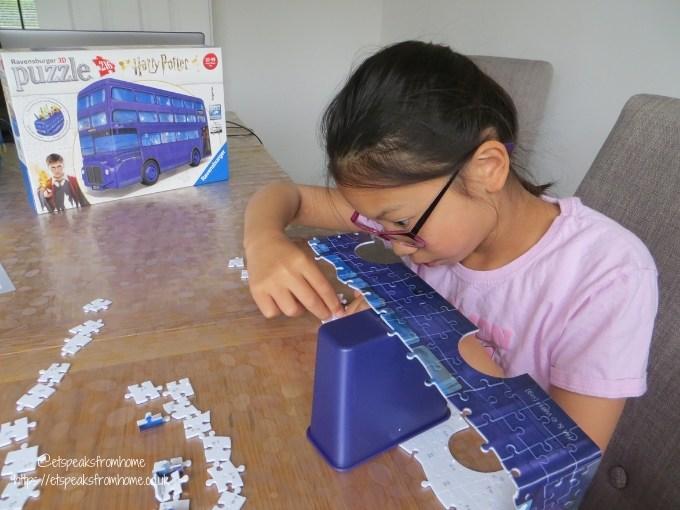 harry potter puzzle bus building