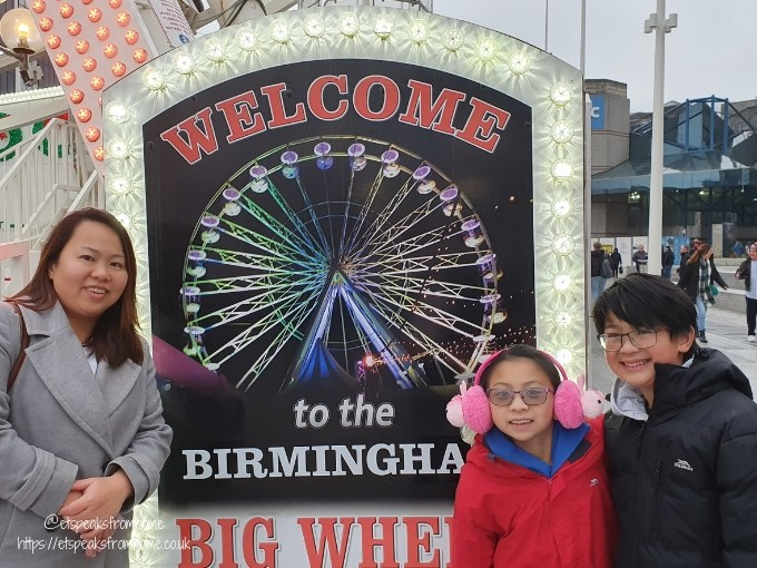 celebrate christmas in birmingham big wheel poster