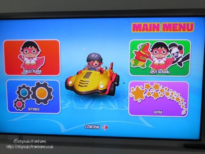 race with ryan menu