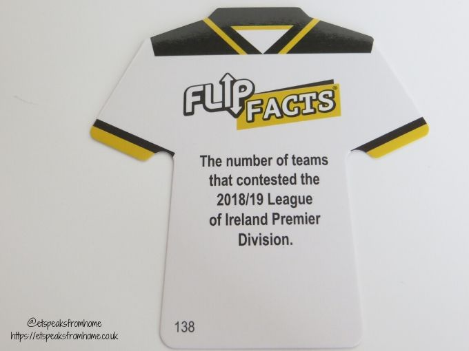 Flip Facts Shoot card fact