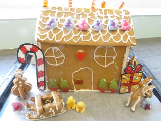 Gingerbread House with Haribo with props