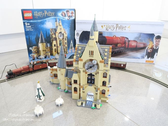Harry potter top 10 christmas in the wizarding world hogwarts clock tower built front