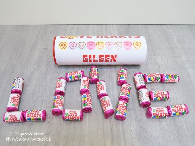 Swizzels love hearts tube