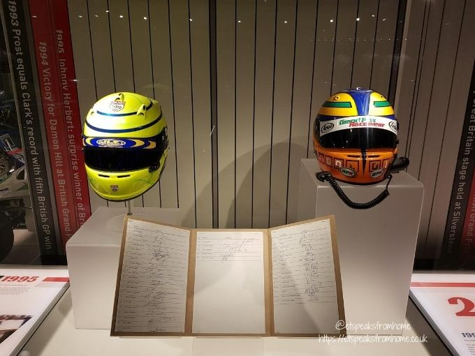 The Silverstone Experience helmets