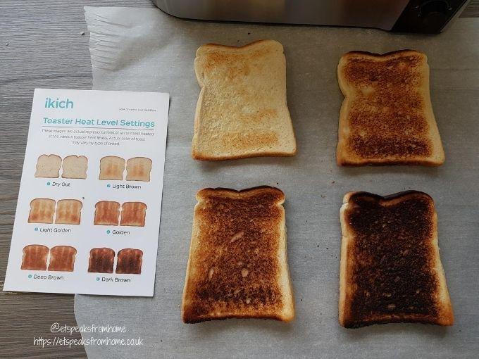 ikich 4 slice toaster bread setting