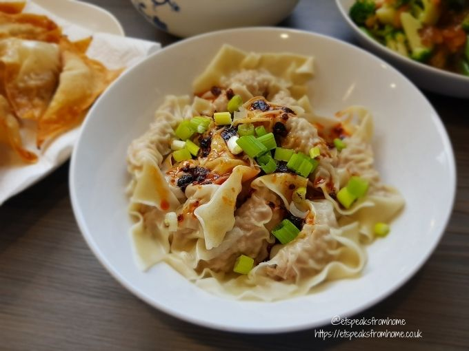Sichuanese Wontons in Chilli Oil Sauce
