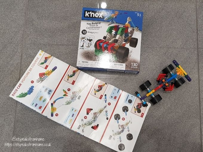 kid K'Nex 10-in-1 Building set racing car instructions