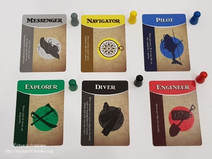 Forbidden Island player cards