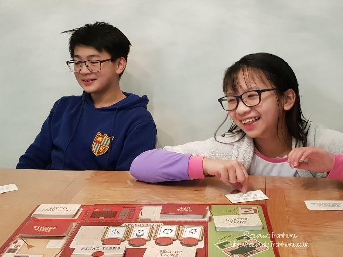 Taskmaster Board Game playing
