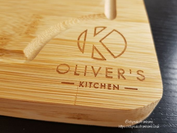 Oliver's Kitchen large bamboo Chopping Board logo