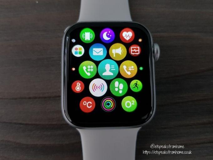 Watchd Smartwatch main menu smart style