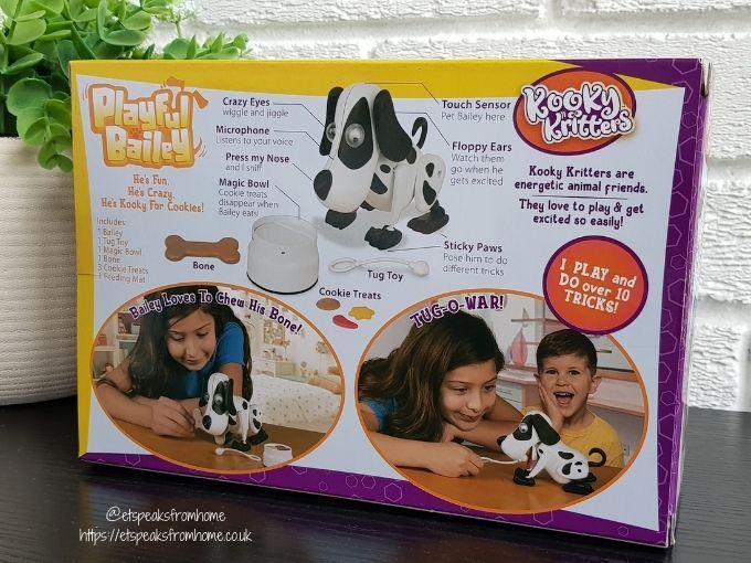 Kooky Kritters Playful Bailey box
