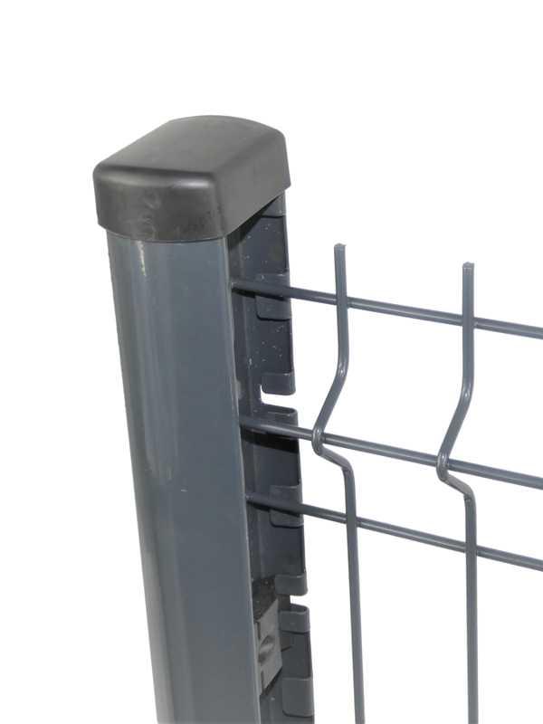 Poteau titan pour clôture rigide