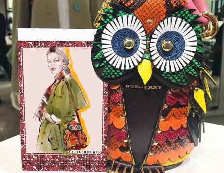 BURBERRY OWL DISPLAY s