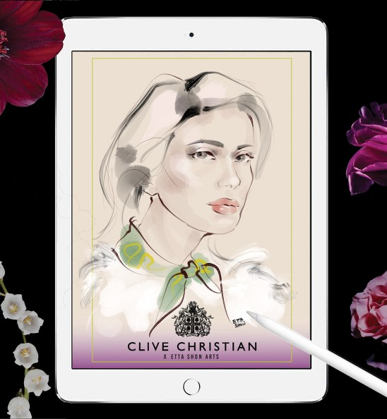 CLIVE CHRISTIAN IPAD FLOWERS SM