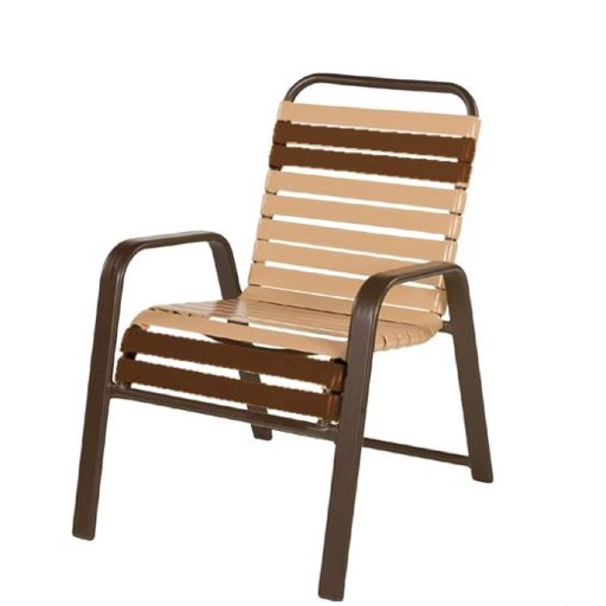 windward anna maria aluminum strap dining arm chair et t distributors