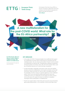 Cover of the ETTG paper on the new multilateralism in the post COVID-19 world