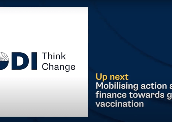 ODI event: Mobilising action and finance towards global vaccination