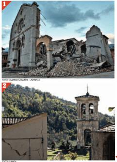 1) Basilica di San Benedetto a Norcia;2) Abbazia di Sant'Eutizio a Preci