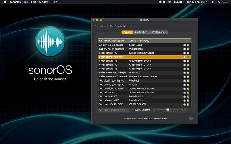 sonorOS screenshot