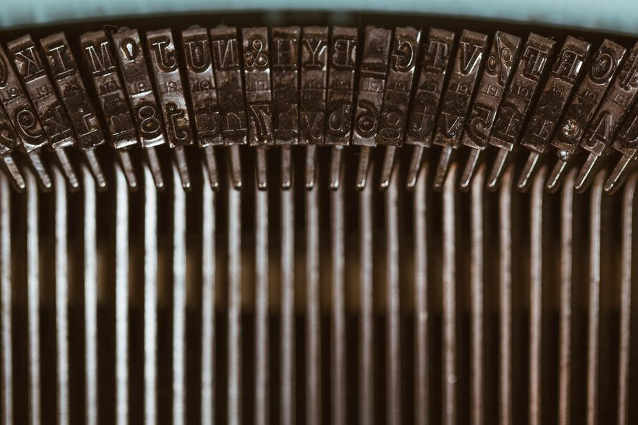 touches de machine à écrire