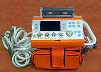 Oxylog 3000 respirateur utilisé pour le transport des patients intubés ventilés