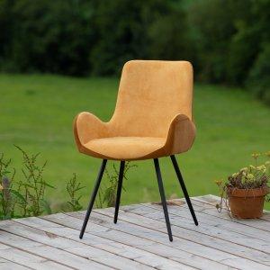 Chaise polyester moutarde bicolore Etxe Mia!