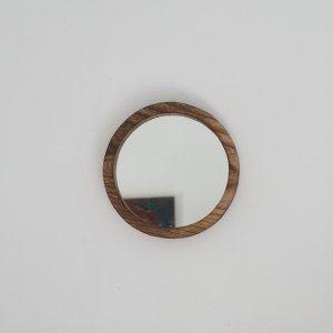 Miroir en bois rond petit modèle Etxe Mia!